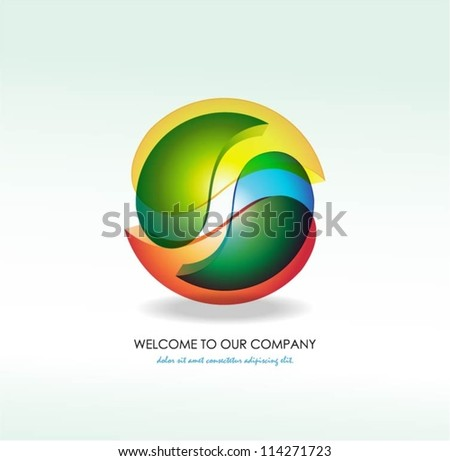 Abstract business symbol. Vector illustration - stock vector