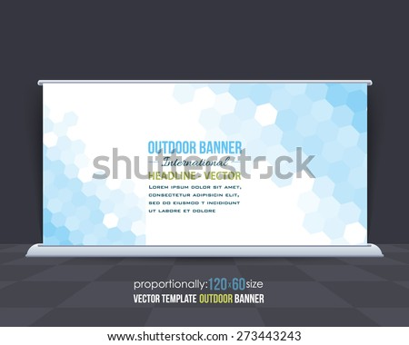 Abstract Business Theme Outdoor Banner Design, Advertising Vector Background Template  - stock vector