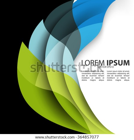 abstract business wave design background illustration - stock vector