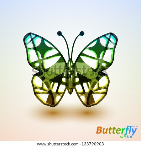 Abstract butterfly, futuristic colorful vector illustration eps10 - stock vector