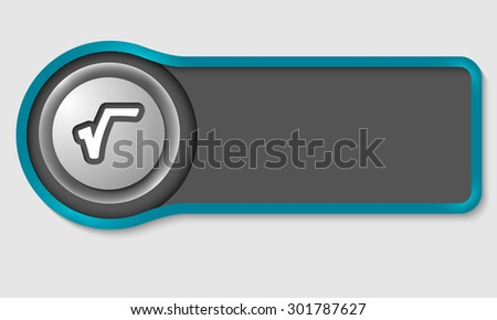 Abstract button for your white text and radix symbol - stock vector
