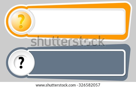 Abstract buttons for your text and question mark - stock vector