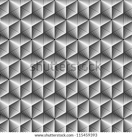 abstract BW pattern - stock vector