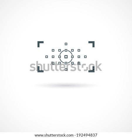 abstract camera viewfinder icon in vector format - stock vector