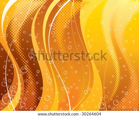 Abstract carbonated drink background, vector layered. - stock vector