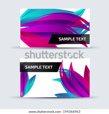 Abstract card template for business artwork, with place for you  - stock vector