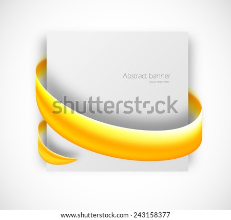 Abstract card with swirl round effect. Vector illustration - stock vector