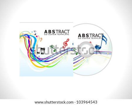 abstract cd cover template vector illustration - stock vector