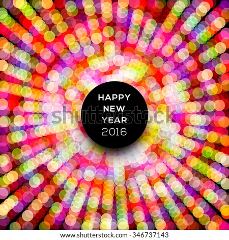 Abstract celebration background with colorful dotted lines - stock vector