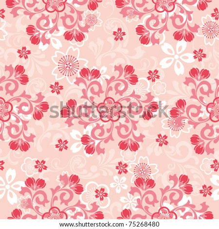 Abstract cherry blossoms pattern. Illustration vector. - stock vector