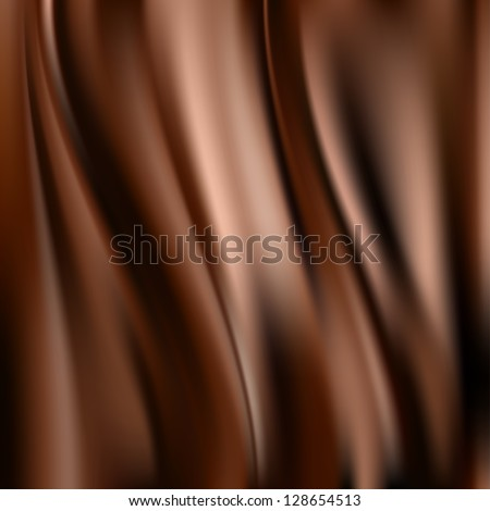 Abstract chocolate background - stock vector