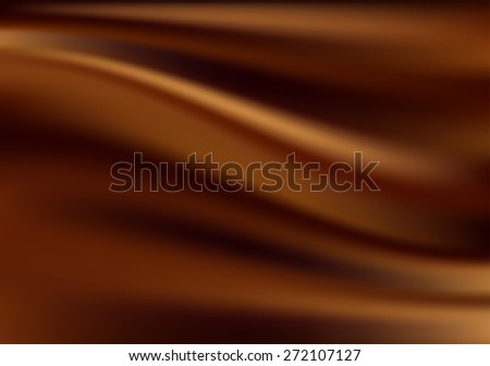 Abstract Chocolate Background, Brown Drapery Silk, Vector Illustration - stock vector