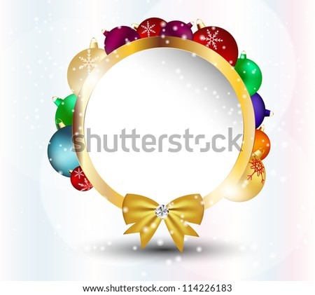 Abstract  Christmas and New Year frame background. vector illustration - stock vector