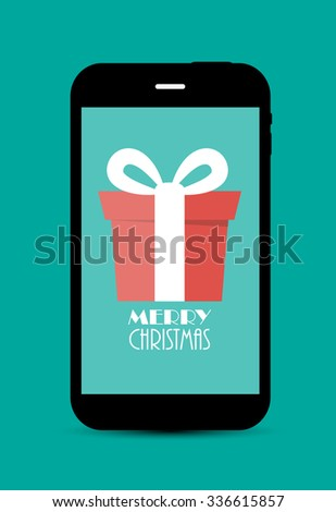 Abstract Christmas and New Year Mobile Phone Background. Vector Illustration EPS10 - stock vector