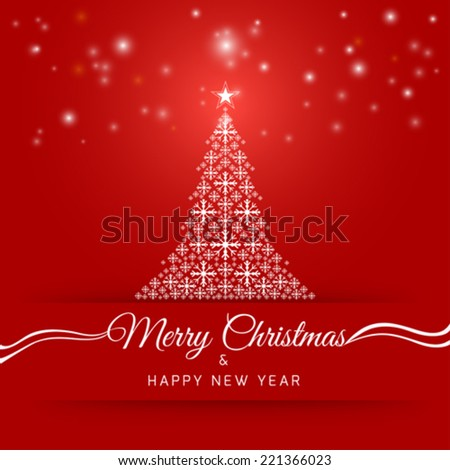 Abstract christmas background image. Vector, illustration. - stock vector