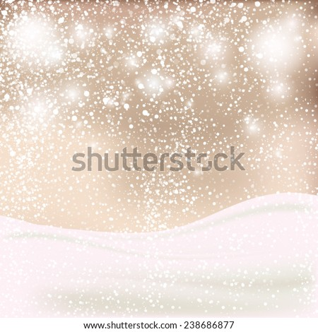 Abstract Christmas background. Winter backgrownd in beige and white colors - stock vector