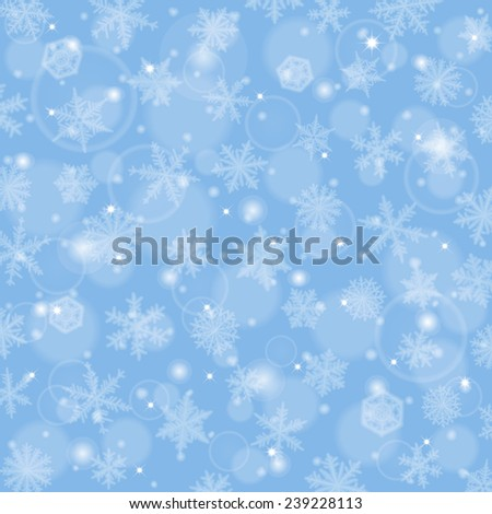 Abstract christmas background with snowflakes. - stock vector