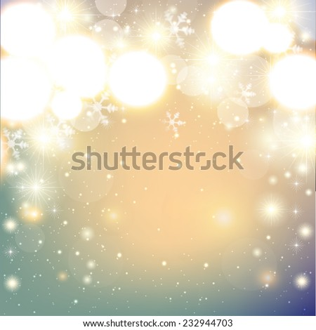 Abstract Christmas background with snowflakes and place for text. Vector Illustration. - stock vector