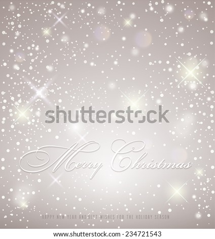 Abstract Christmas card - stock vector