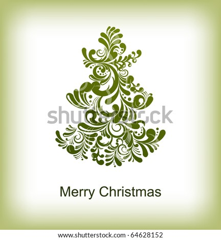 Abstract Christmas card with editable text, eps10 - stock vector
