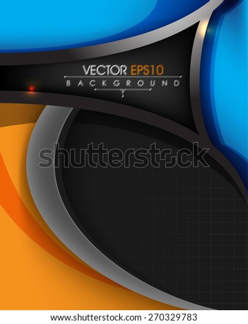 abstract chrome metallic corporate business background eps10 vector - stock vector