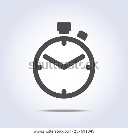 Abstract chronometer icon gray color. Vector illustration  - stock vector