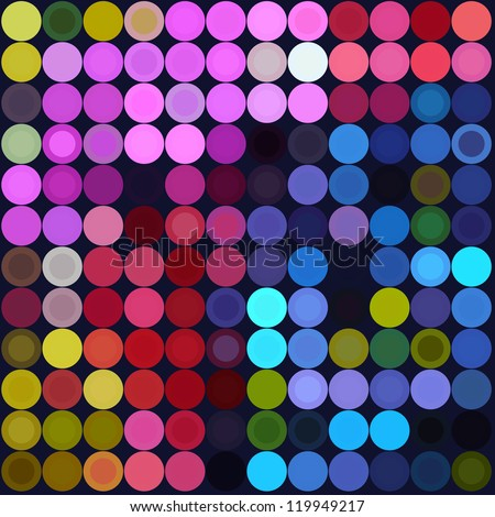 Abstract circle background. Magic circles. Pop art - stock vector