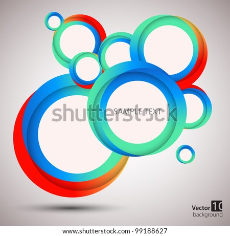Abstract circle  background. vector - stock vector