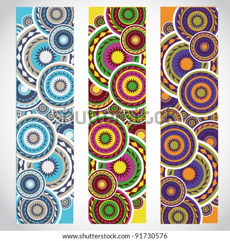 abstract circle banners - stock vector
