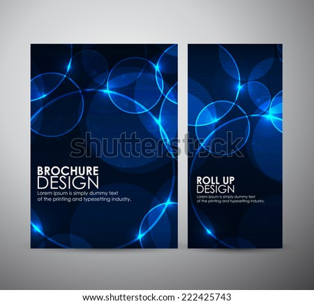 Abstract Circle bokeh. Brochure business design template or roll up.  - stock vector