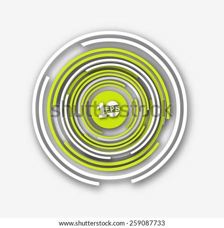 Abstract Circle Design, eps10 vector - stock vector