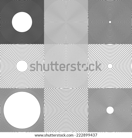Abstract circle elements, backgrounds. - stock vector
