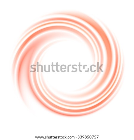 Abstract circle swirl background. Round curve, motion light, space and wave, bright spiral, vector illustration - stock vector