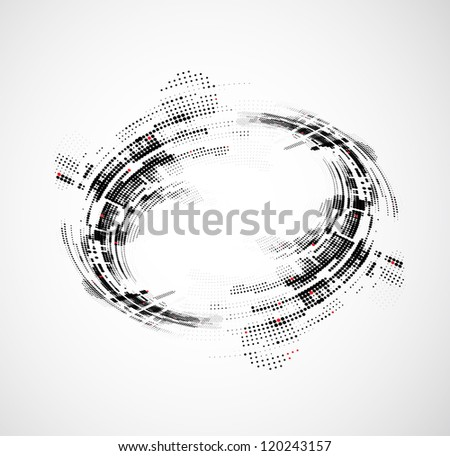 abstract circle technology business background - stock vector
