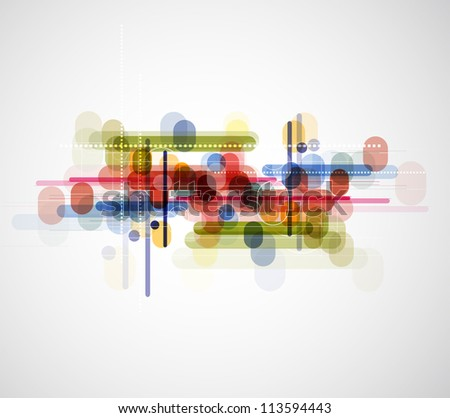 Abstract circle technology dynamic fade background. - stock vector
