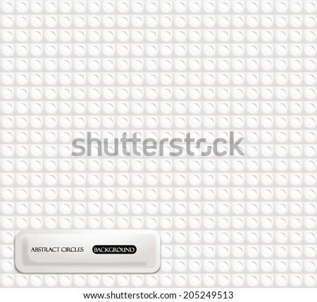 Abstract Circles background - stock vector