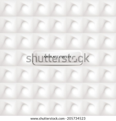 Abstract circles designed background - stock vector