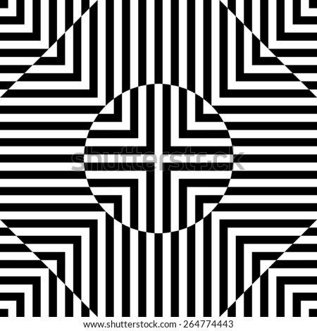 Abstract circles seamless pattern. stripe vector. - stock vector