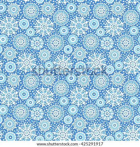 Abstract circles wallpaper. Vector seamless wavy pattern. - stock vector
