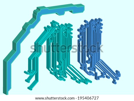 abstract circuit background  - stock vector
