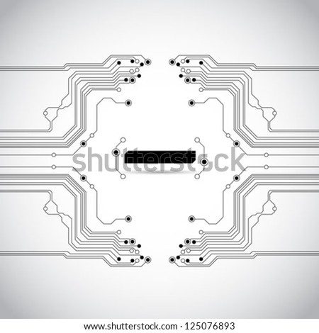 abstract circuit board background texture - vector - stock vector