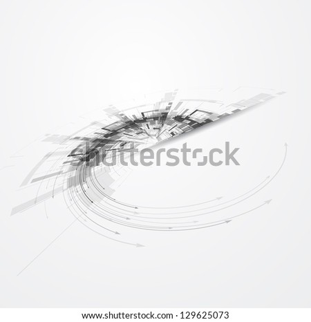 abstract circuit cyber high technology business background - stock vector