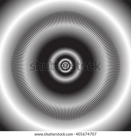 Abstract circular background. Vector art. - stock vector