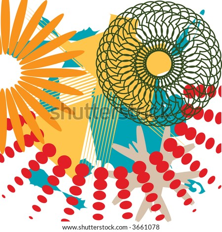 Abstract circular design element, in vector format, for borders and background. - stock vector