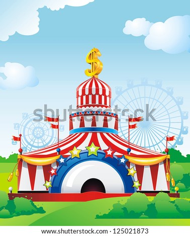 Abstract Circus tent. Classical Vector illustration. - stock vector