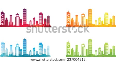 Abstract cityscape - stock vector