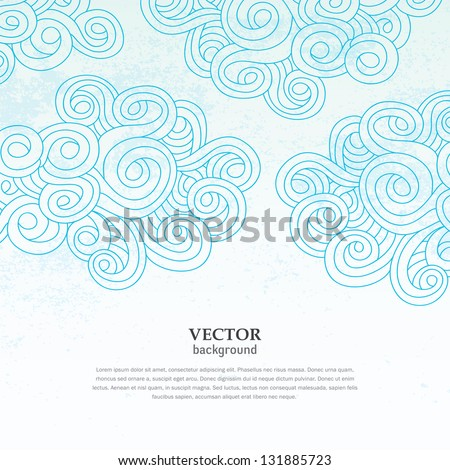 abstract cloud sky vector grunge cover wallpaper pattern background for cards invitations books advertisement magazine - stock vector