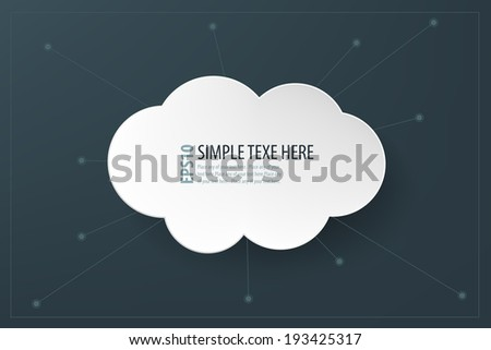 Abstract clouds background - stock vector