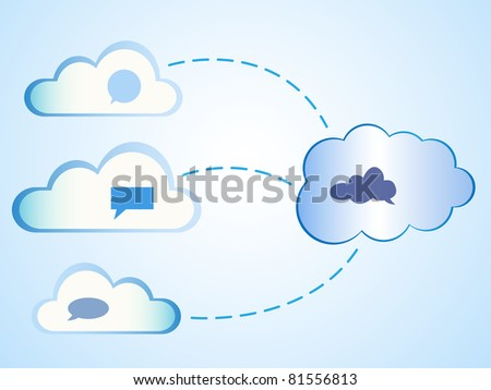 Abstract clouds computing - stock vector