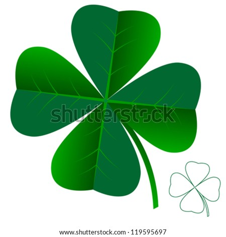 abstract clover leaf isolated on white background vector - stock vector